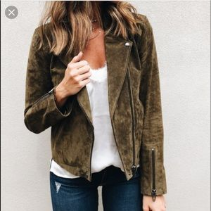 BlankNYC No Limit Suede Moto Jacket Size S